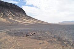 Desierto negro Fotografía de archivo libre de regalías