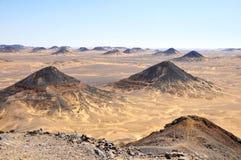 Desierto negro en Egipto Fotografía de archivo libre de regalías