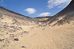 Desierto negro en Egipto Fotografía de archivo