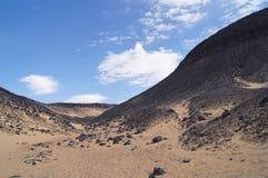 Desierto negro en Egipto Imagen de archivo libre de regalías