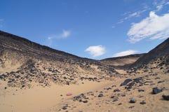 Desierto negro en Egipto Imágenes de archivo libres de regalías