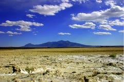Desierto nublado Imagenes de archivo