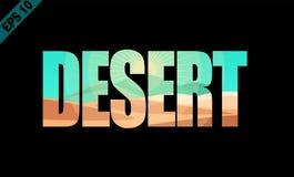Desierto, palabra aislada libre illustration