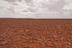 Desierto pedregoso rojo foto de archivo