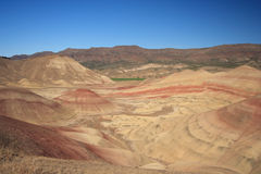 Desierto pintado de las colinas fotos de archivo libres de regalías