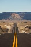 Desierto Road Fotos de archivo libres de regalías