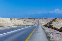 Desierto Road Israel Imagen de archivo libre de regalías