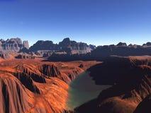 Desierto rojo Foto de archivo