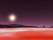 Desierto rojo ilustración del vector