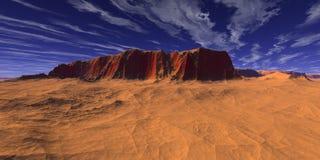 Desierto rojo Foto de archivo libre de regalías