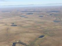 Desierto septentrional de la visión aérea Foto de archivo
