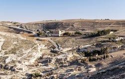 Desierto Shobak en Jordania Foto de archivo libre de regalías