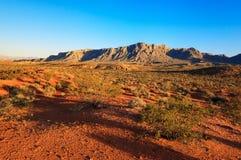 Desierto sobre puesta del sol, Nevada Foto de archivo libre de regalías