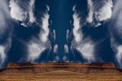 Desierto surrealista Imágenes de archivo libres de regalías