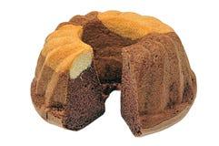 Desierto/torta deliciosos en un fondo del whte Fotografía de archivo libre de regalías
