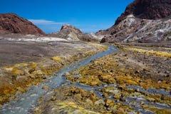 Desierto volcánico colorido Imagen de archivo