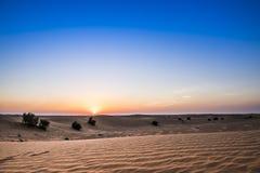 Desierto y cielo Imagen de archivo libre de regalías