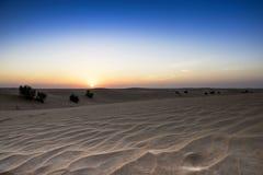 Desierto y cielo Fotos de archivo libres de regalías