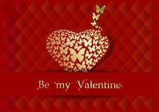Desig do cartão para o dia de Valentim Fotografia de Stock Royalty Free