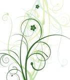 desig kwiatów zieleń royalty ilustracja