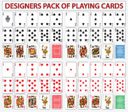 Desigers pack of playing cards. Set Royalty Free Stock Photos