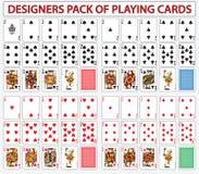 Desigerspak speelkaarten Royalty-vrije Stock Foto's