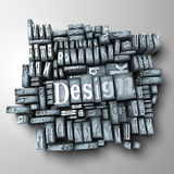 Design. The word design written in typescript letters Stock Photography
