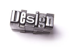 Design. Made from metal letters royalty free stock photo