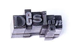 Design. Made from metal letters stock photos