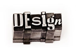 Design. Made from metal letters stock image