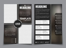 Free Design 2 Page Brochure With Space For A Photo, Royalty Free Stock Photo - 82175165
