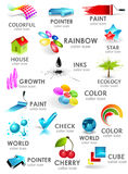 Design 3d color icon set. Design elements.  Stock Image