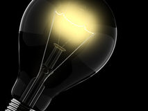 Design. Yellow shine of light bulb, idea and invention vector illustration