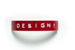 Design!. A sample of old-fashioned punch-style lettering stock photos