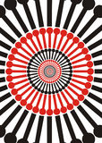 Design. Illustration of circular design over white background Stock Images