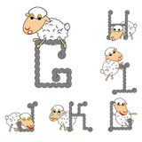 Design ABC with funny cartoon sheep Royalty Free Stock Image