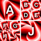 Design ABC letters from A to J Stock Images