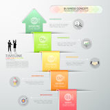 Design abstract 3d arrow infographic template 5 steps for busine. Ss concept, vector illustration Stock Image