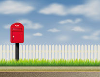 Design of abstract English, UK letter-box, mailbox Royalty Free Stock Photography