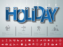 Design abstract infographic front on the rope.Vector/illustratio. N.holiday icon set Stock Photography