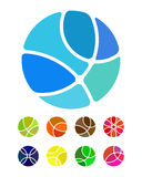 Design abstract round logo element Stock Images