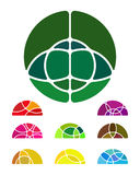Design abstract round logo element Royalty Free Stock Photography