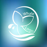 Design with abstract symbol of whale and sea wave. Vector illustration. Design with abstract symbol of whale and sea wave. Vector Royalty Free Stock Photo