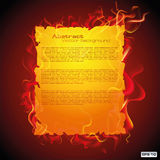 Design of abstract template and sample in fire Royalty Free Stock Photography