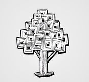 Design Abstract tree in Vector illustration Royalty Free Stock Images