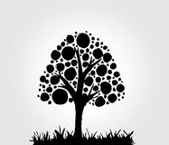 Design Abstract tree in Vector illustration Stock Image