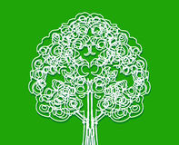 Design Abstract tree in Vector illustration Stock Images