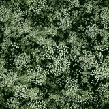 Design of abstract wildflowers. Flowering meadow. Seamless pattern of small light flowers. Floral light green background for