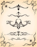 Design Accents. An illustration of a set of design shapes and borders Stock Image