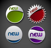 Design of advertisement labels stickers Royalty Free Stock Photos